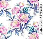 watercolor hand paint pink...   Shutterstock . vector #517159444