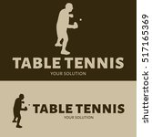 table tennis vector logo. brand'... | Shutterstock .eps vector #517165369