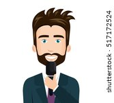 reporter live news isolated icon | Shutterstock .eps vector #517172524