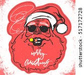 merry christmas santa claus... | Shutterstock .eps vector #517172728