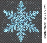 neon glowing snowflake on a...   Shutterstock .eps vector #517172794