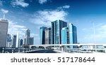 driving across dubai downtown. | Shutterstock . vector #517178644