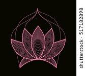 hand drawn henna flower lotus...   Shutterstock .eps vector #517182898