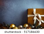 beautiful christmas gift boxes... | Shutterstock . vector #517186630