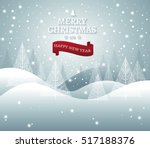 christmas and new years... | Shutterstock .eps vector #517188376