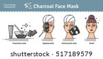 vector illustrated set with... | Shutterstock .eps vector #517189579