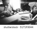 start up programming team.... | Shutterstock . vector #517193044