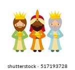 cartoon cute three wise men... | Shutterstock .eps vector #517193728