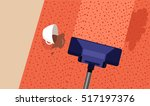 carpet cleaning service banner. ... | Shutterstock .eps vector #517197376