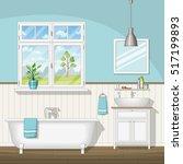 illustration of interior... | Shutterstock .eps vector #517199893