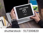 showing video lessons concept... | Shutterstock . vector #517200820