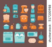 set of vector elements kitchen... | Shutterstock .eps vector #517200988