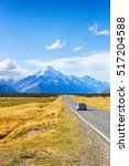 road leading to mount cook  new ...   Shutterstock . vector #517204588