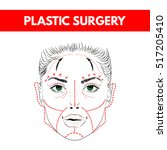 plastic surgery. cosmetic... | Shutterstock .eps vector #517205410