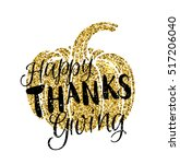 happy thanksgiving day card... | Shutterstock .eps vector #517206040