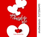 sweet quote for valentine's day ... | Shutterstock .eps vector #517206490