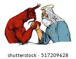 the devil is struggling with... | Shutterstock . vector #517209628