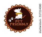 pet friendly vector... | Shutterstock .eps vector #517214080