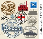 travel stamps or symbols set ... | Shutterstock .eps vector #517214350