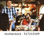 restaurant chilling out classy... | Shutterstock . vector #517215109