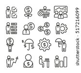 business management icons   Shutterstock .eps vector #517216099