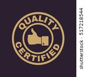 the certified quality and... | Shutterstock . vector #517218544