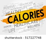 calories word cloud collage ... | Shutterstock .eps vector #517227748