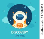 cosmos discovery poster ... | Shutterstock .eps vector #517232314