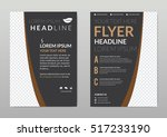 brochure template layout  cover ... | Shutterstock .eps vector #517233190