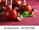 Candy Apples With Strawberry O...