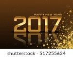 vector 2017 happy new year... | Shutterstock .eps vector #517255624