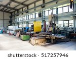 machinery in manufacturing... | Shutterstock . vector #517257946