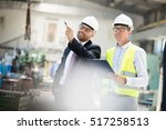 mid adult male supervisors...   Shutterstock . vector #517258513