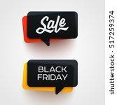 black friday sale vector banner ... | Shutterstock .eps vector #517259374