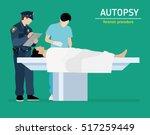 flat illustration. the autopsy... | Shutterstock .eps vector #517259449