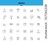 set of business line icons | Shutterstock .eps vector #517261228