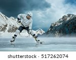 ice hockey player in action... | Shutterstock . vector #517262074