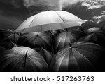 umbrella lights glowing... | Shutterstock . vector #517263763