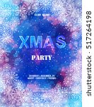 poster christmas party. new ... | Shutterstock .eps vector #517264198