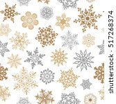 snowflakes seamless pattern for ... | Shutterstock .eps vector #517268374