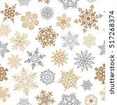 Snowflakes Seamless Pattern Fo...