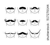 big set of vector hipster...   Shutterstock .eps vector #517270144