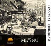 restaurant menu design. vector... | Shutterstock .eps vector #517277254