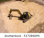 Aerial View Of A Digger  ...