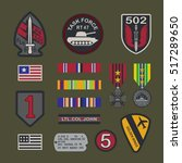 set of military army badge... | Shutterstock .eps vector #517289650