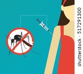 dengue fever vaccine formulated ... | Shutterstock .eps vector #517291300