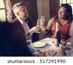 restaurant chilling out classy... | Shutterstock . vector #517291990