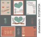 happy valentine's day labels... | Shutterstock .eps vector #517293754