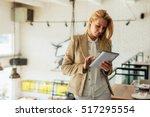 attractive business woman...   Shutterstock . vector #517295554
