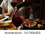 delicious dinner with grilled... | Shutterstock . vector #517306303